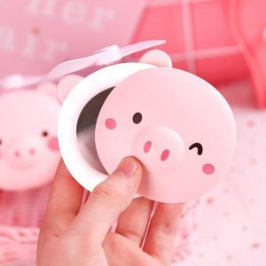 آینه فن دار LED طرح خوک
